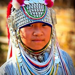 018 Girl in Headdress Thailand