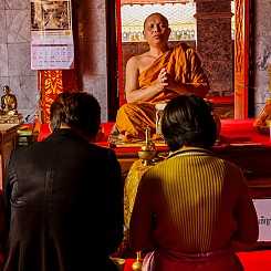 043 Monk Blessing at Wat Phra That Doi Suthep Thailand