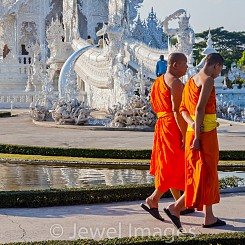 069 Monks at White Palace Thailand