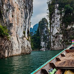 073 Boat Tour of Khao Sok NP Thailand