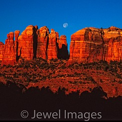 012 Moon Over Cathedrals AZ