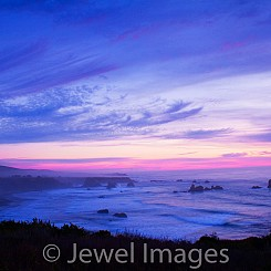 036 Lavendar Sunset at Ragged Pt CA